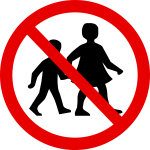 no children traffic sign mock-up