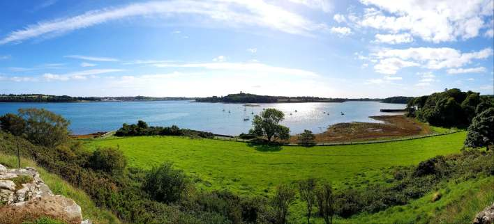 panoramic view from atop Audley's Castle