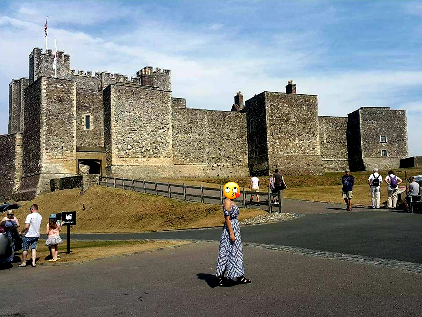 LiberaTarts standing in front of Dover Castle