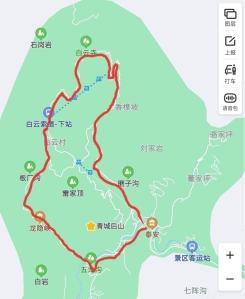 Qingchenghoushan trail map